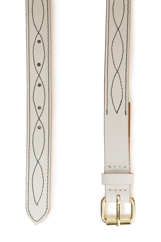 Antik Batik   Antik Batik Woman Leather Belt White   Clouty