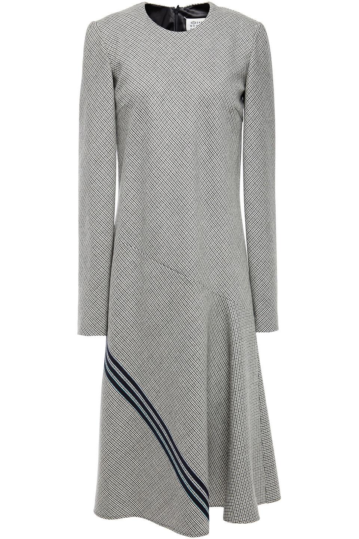 Maison Margiela | Maison Margiela Woman Houndstooth Wool-jacquard Midi Dress Black | Clouty