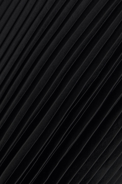 A.L.C. | A.l.c. Woman Pleated Satin Mini Dress Black | Clouty