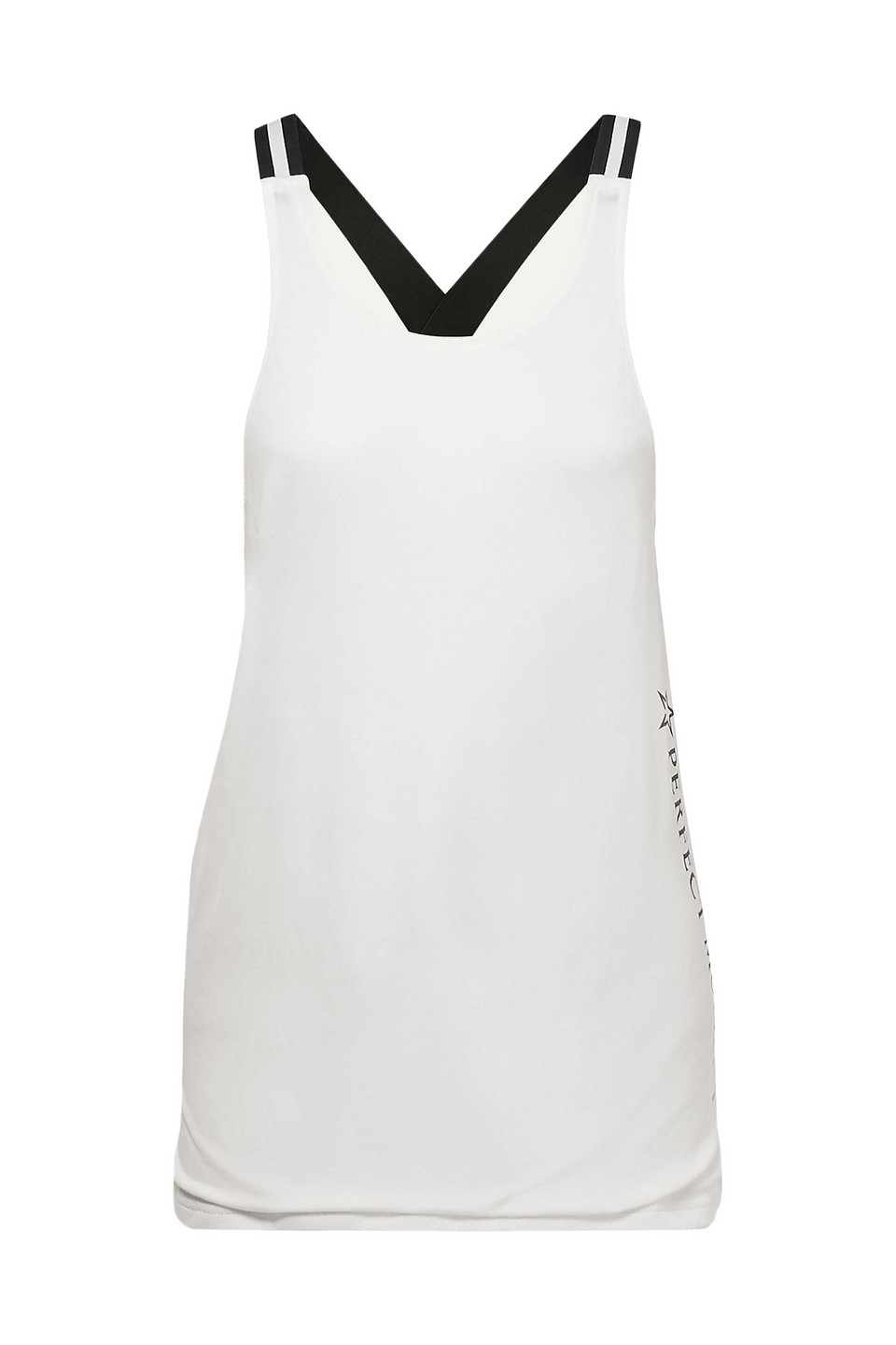Perfect Moment | Perfect Moment Woman Layered Jersey And Mesh Tank White | Clouty