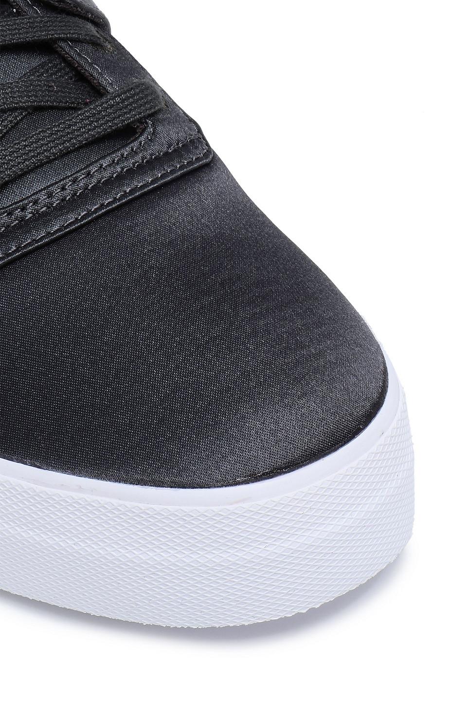 REEBOK   Reebok Woman Satin Sneakers Charcoal   Clouty