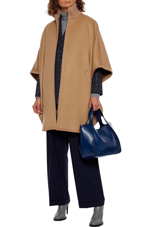 Stella McCartney | Stella Mccartney Woman Brindabella Wool-felt Turtleneck Cape Camel | Clouty