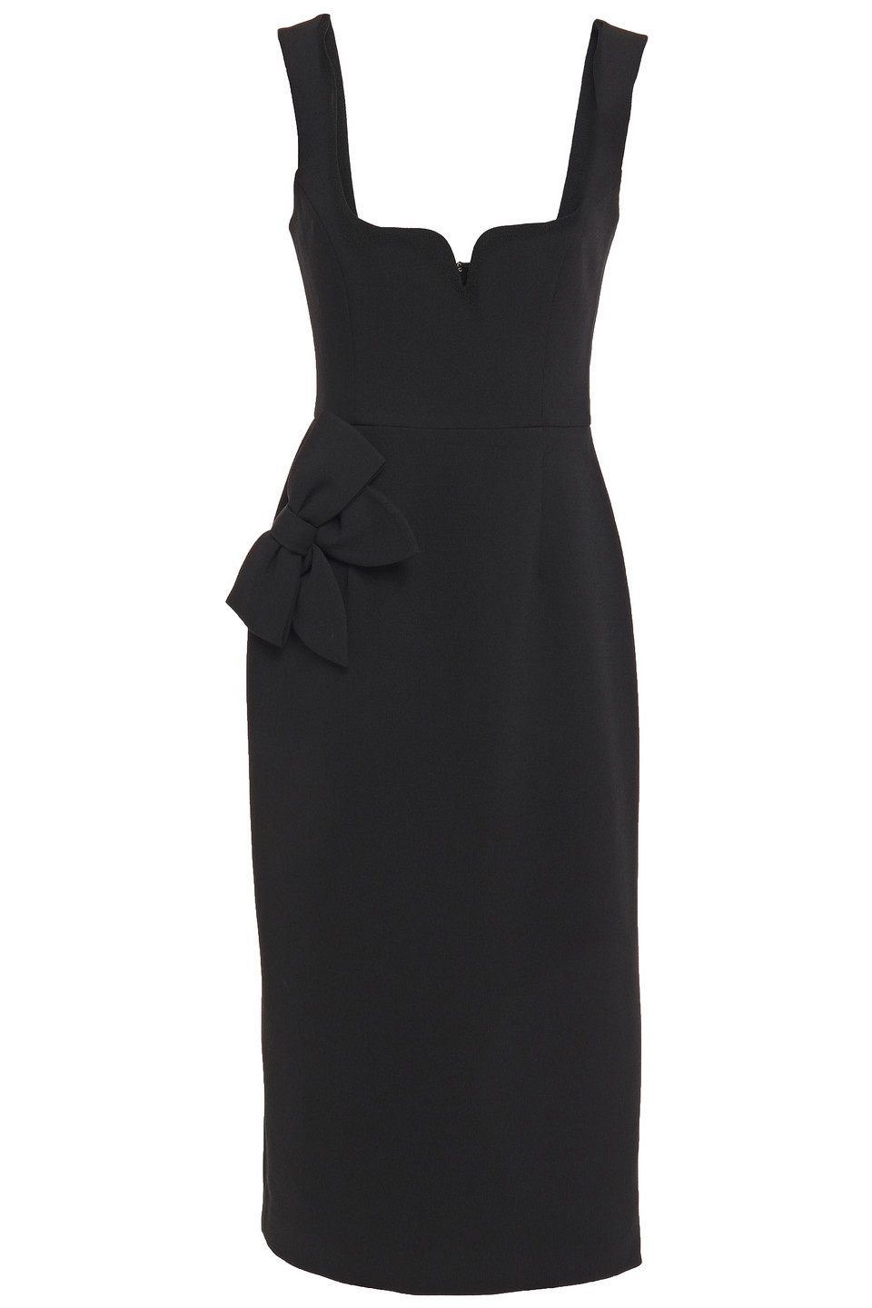 Rebecca Vallance | Rebecca Vallance Woman Bow-embellished Crepe Midi Dress Black | Clouty