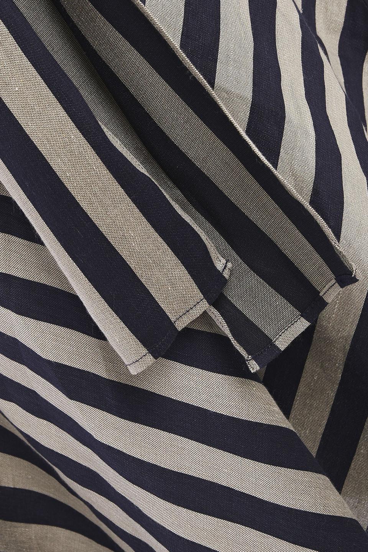 Rebecca Vallance | Rebecca Vallance Woman Striped Woven Midi Dress Navy | Clouty