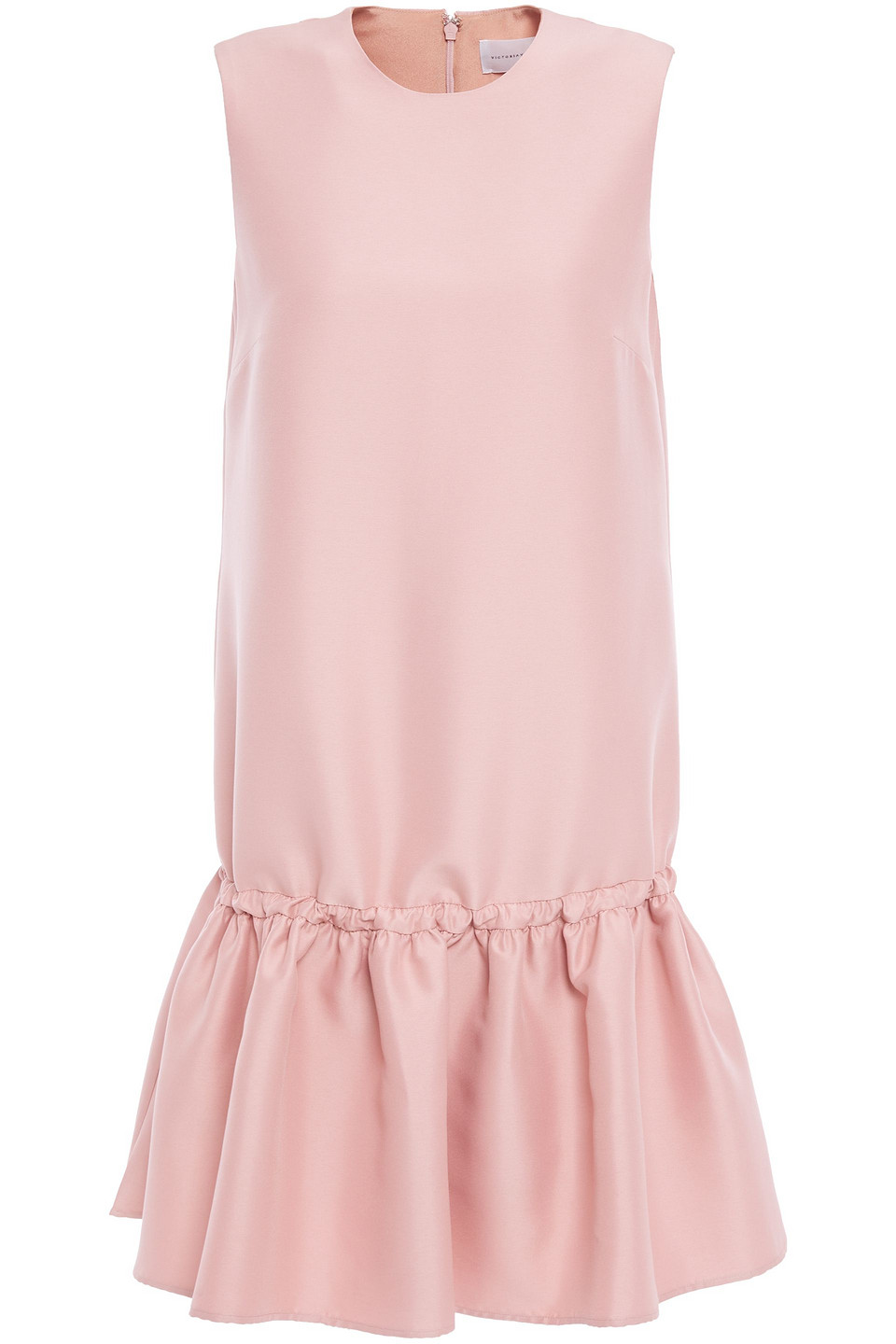 Victoria By Victoria Beckham | Victoria, Victoria Beckham Woman Fluted Faille Mini Dress Antique Rose | Clouty