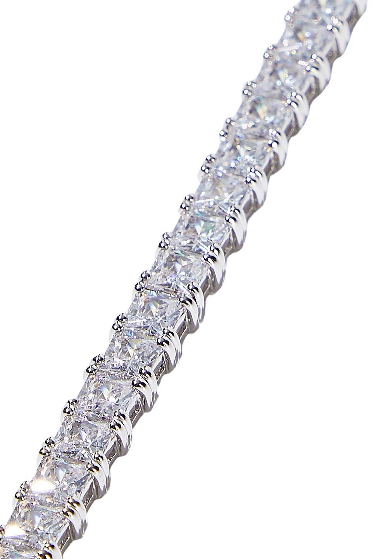 CZ By Kenneth Jay Lane | Cz By Kenneth Jay Lane Woman 18-karat Gold-plated Crystal Bracelet Silver | Clouty