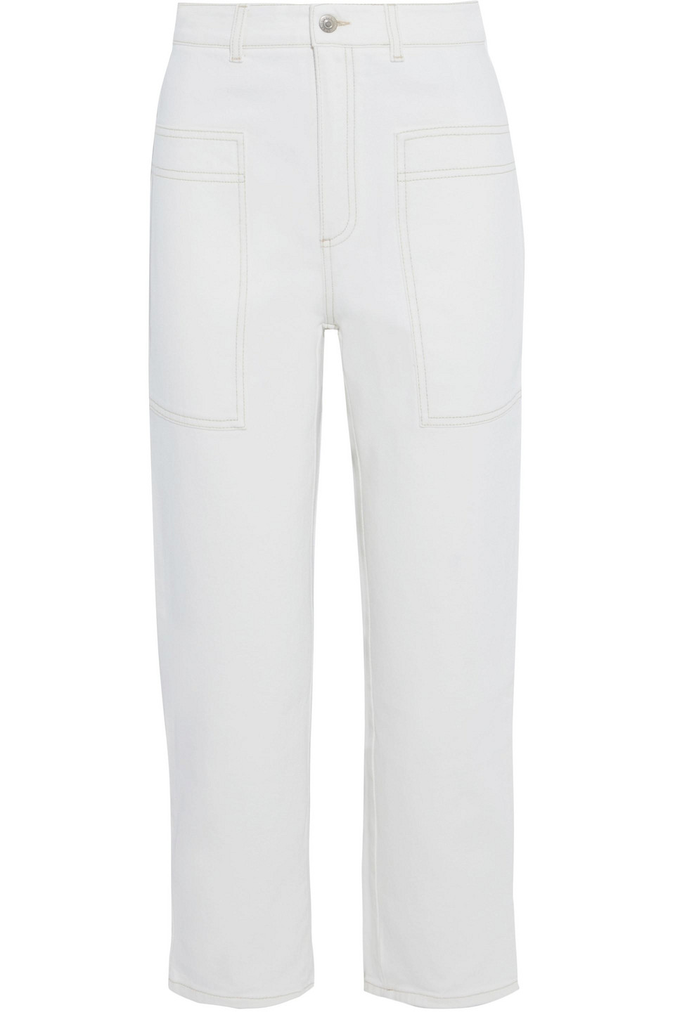 Stella McCartney | Stella Mccartney Woman Cropped High-rise Straight-leg Jeans White | Clouty