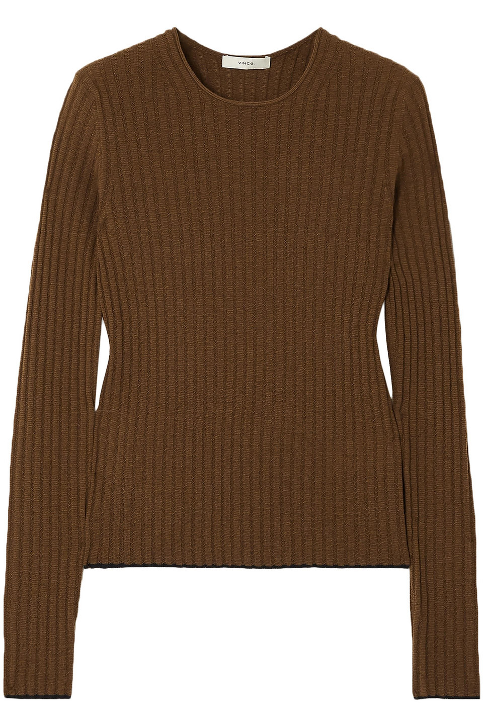 Vince | Vince. Woman Ribbed Cashmere Sweater Army Green | Clouty