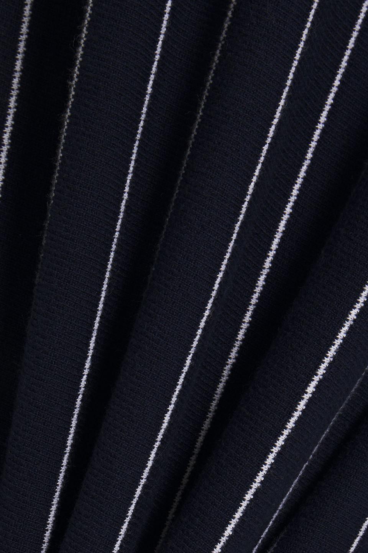 NINETY PERCENT | Ninety Percent Woman Striped Organic Cotton Hooded Mini Dress Navy | Clouty