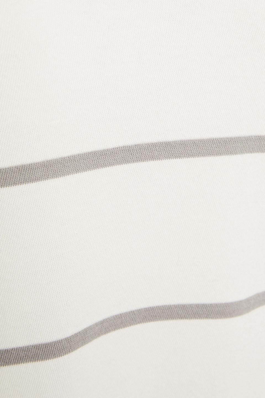 ATM | Atm Anthony Thomas Melillo Woman Striped Cotton-jersey Mini Dress Off-white | Clouty