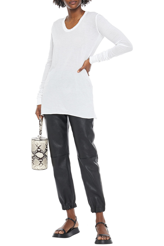 RICK OWENS | Rick Owens Woman Slub Cotton-jersey Top White | Clouty