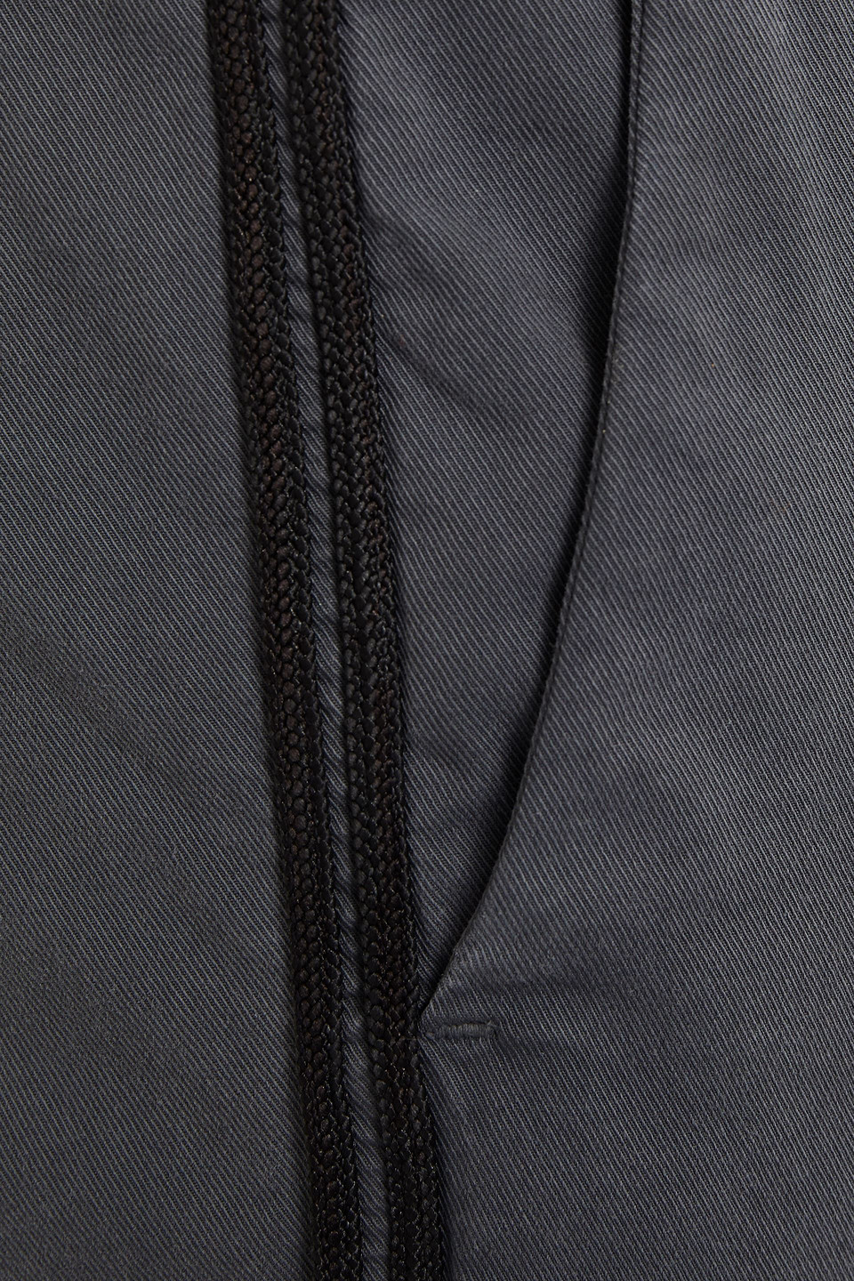 Nili Lotan | Nili Lotan Woman Cropped Braid-trimmed Cotton-blend Twill Tapered Pants Dark Gray | Clouty