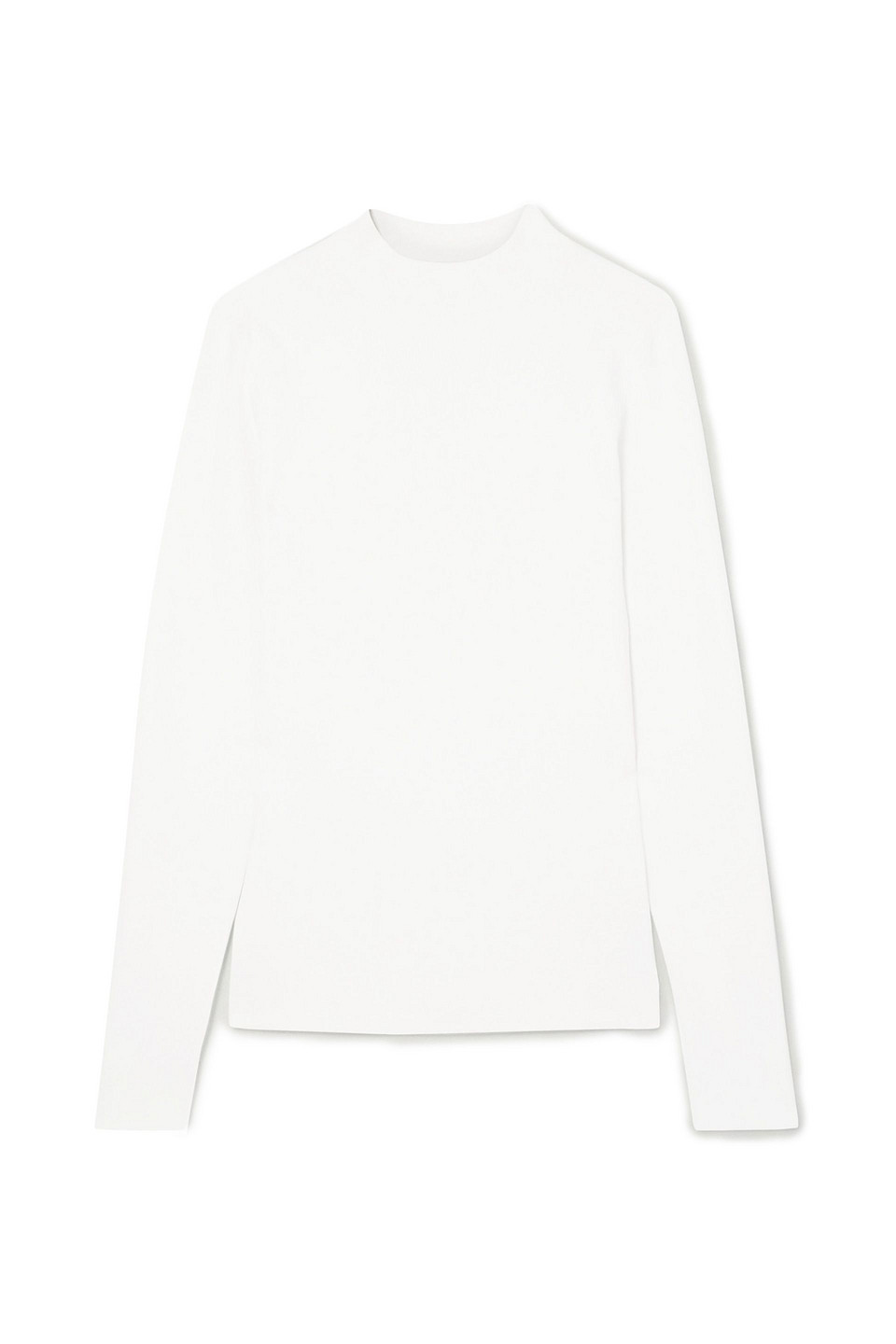 The Row   The Row Woman Stretch-knit Top White   Clouty