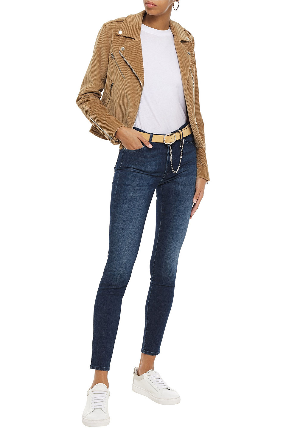 7 For All Mankind | 7 For All Mankind Woman Faded Mid-rise Skinny Jeans Dark Denim | Clouty