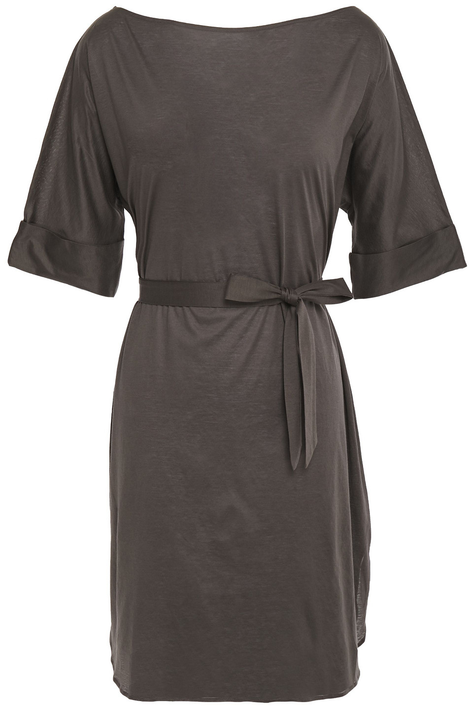 Eres | Eres Woman Zephyr Cesar Cotton-jersey Mini Dress Dark Gray | Clouty