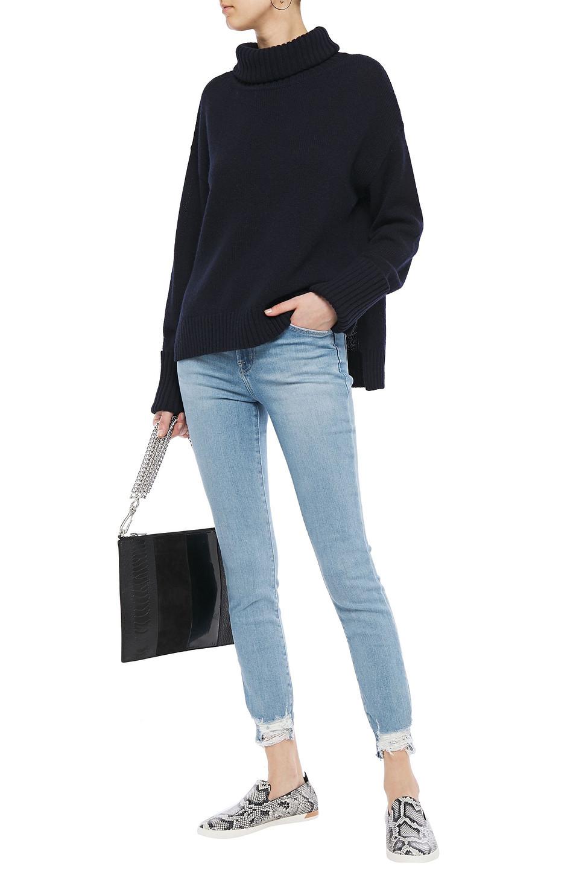 J Brand | J Brand Woman Distressed Faded Mid-rise Skinny Jeans Light Denim | Clouty