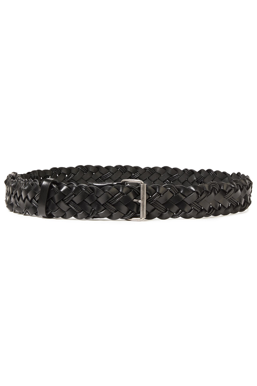Ann Demeulemeester | Ann Demeulemeester Woman Braided Leather Belt Black | Clouty