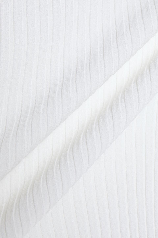 RAG & BONE | Rag & Bone Woman Brea Paneled Ribbed And Cable-knit Midi Dress White | Clouty