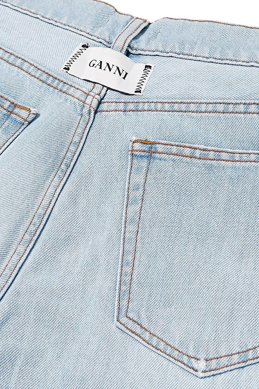 Ganni | Ganni Woman Sheldon High-rise Wide-leg Jeans Light Denim | Clouty