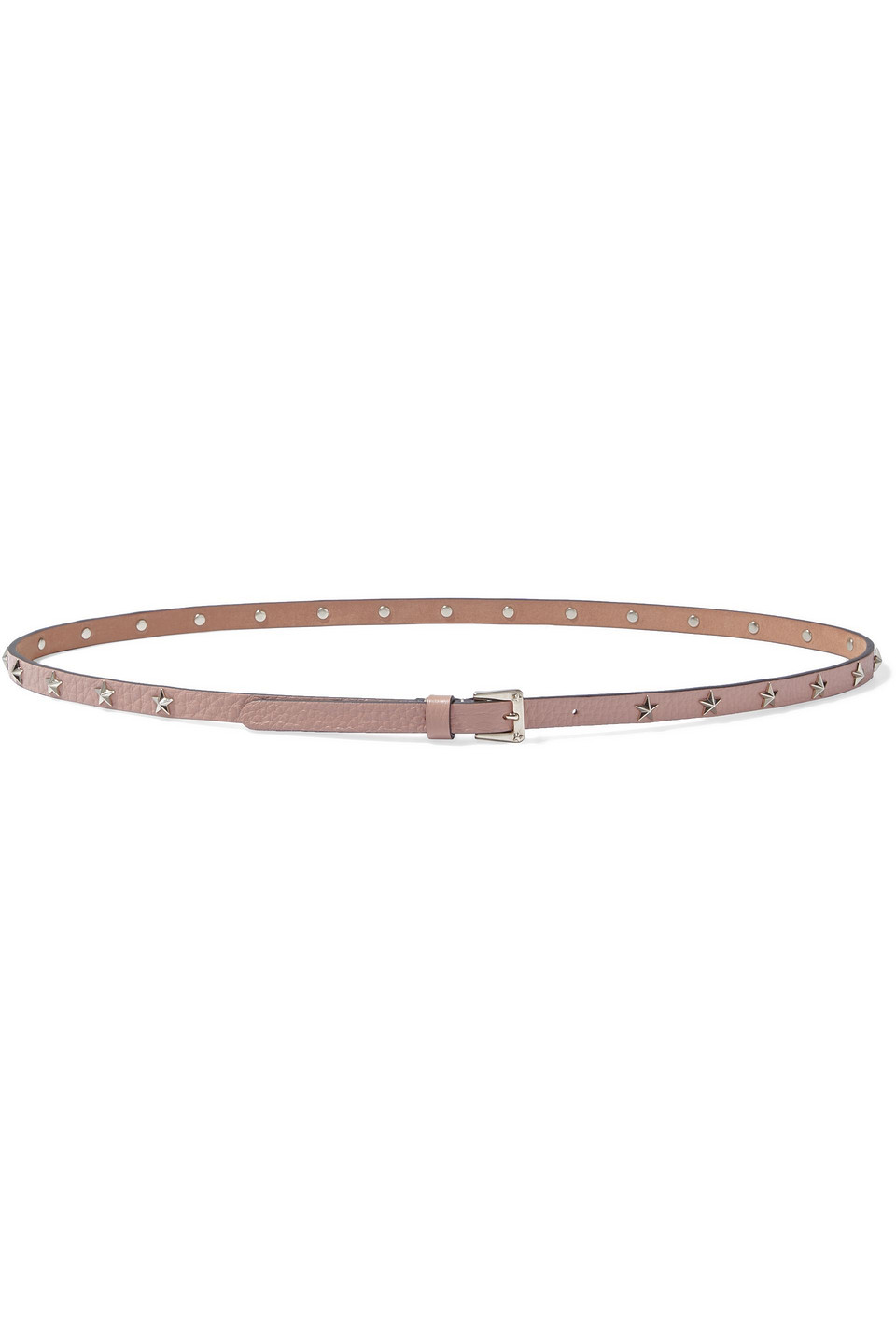 RED(V) | Red(v) Woman Star Studded Textured-leather Belt Pink | Clouty