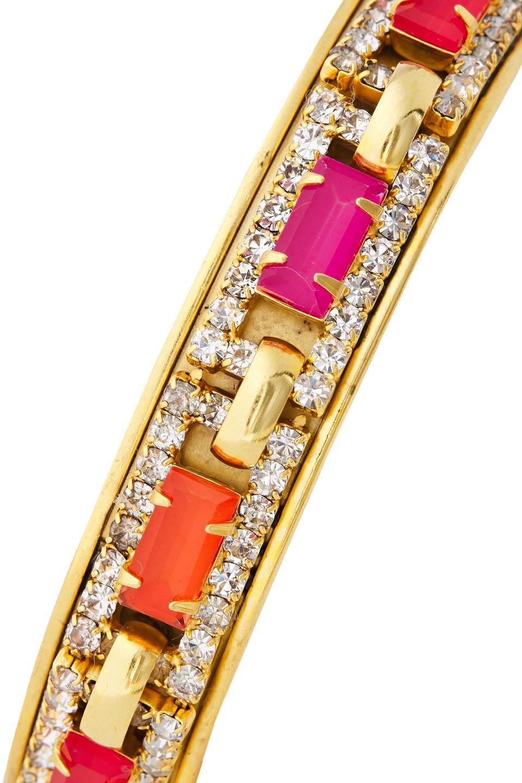 Elizabeth Cole | Elizabeth Cole Woman 24-karat Gold-plated Crystal Cuff | Clouty