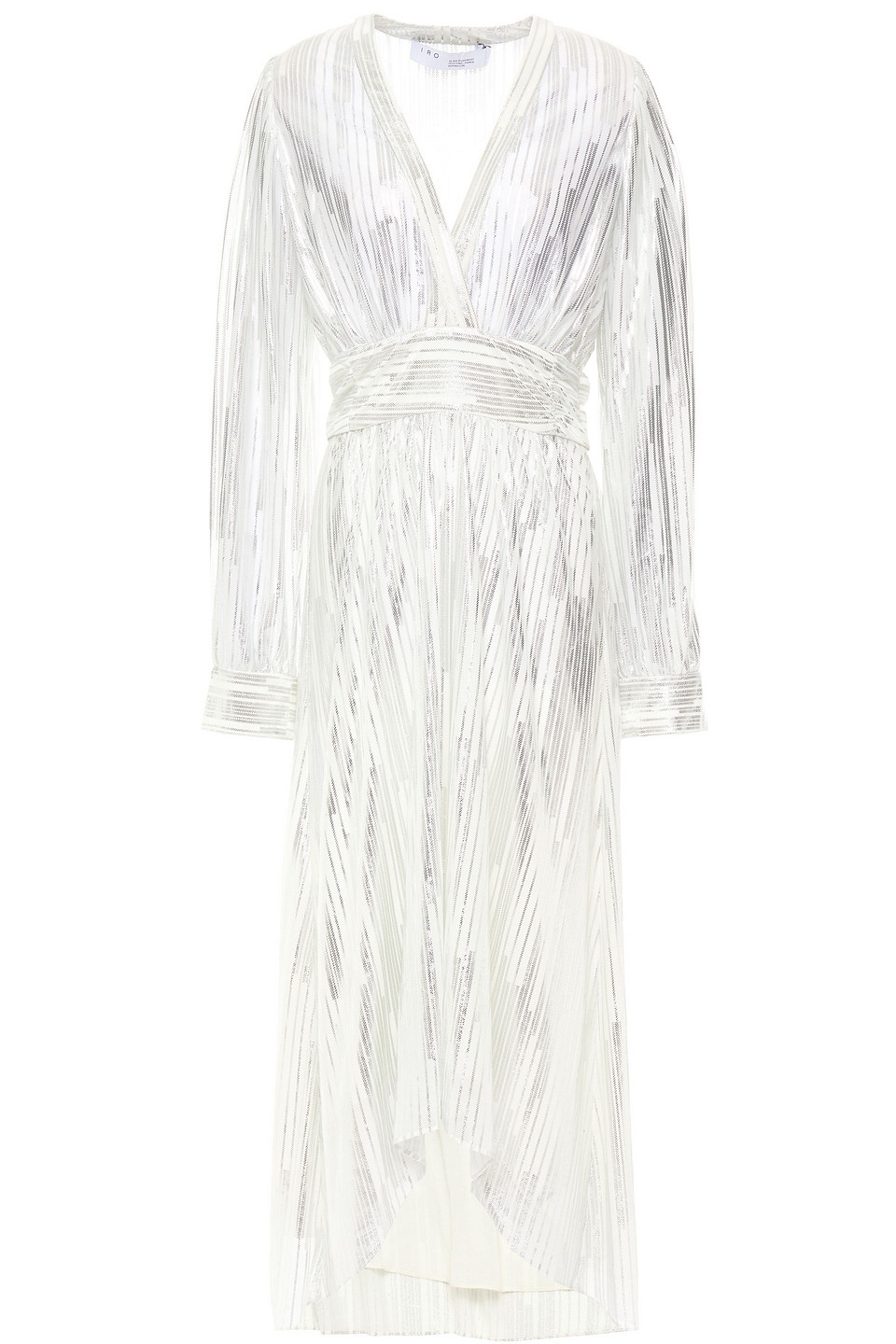 IRO | Iro Woman Eureka Metallic Printed Jersey Midi Dress White | Clouty