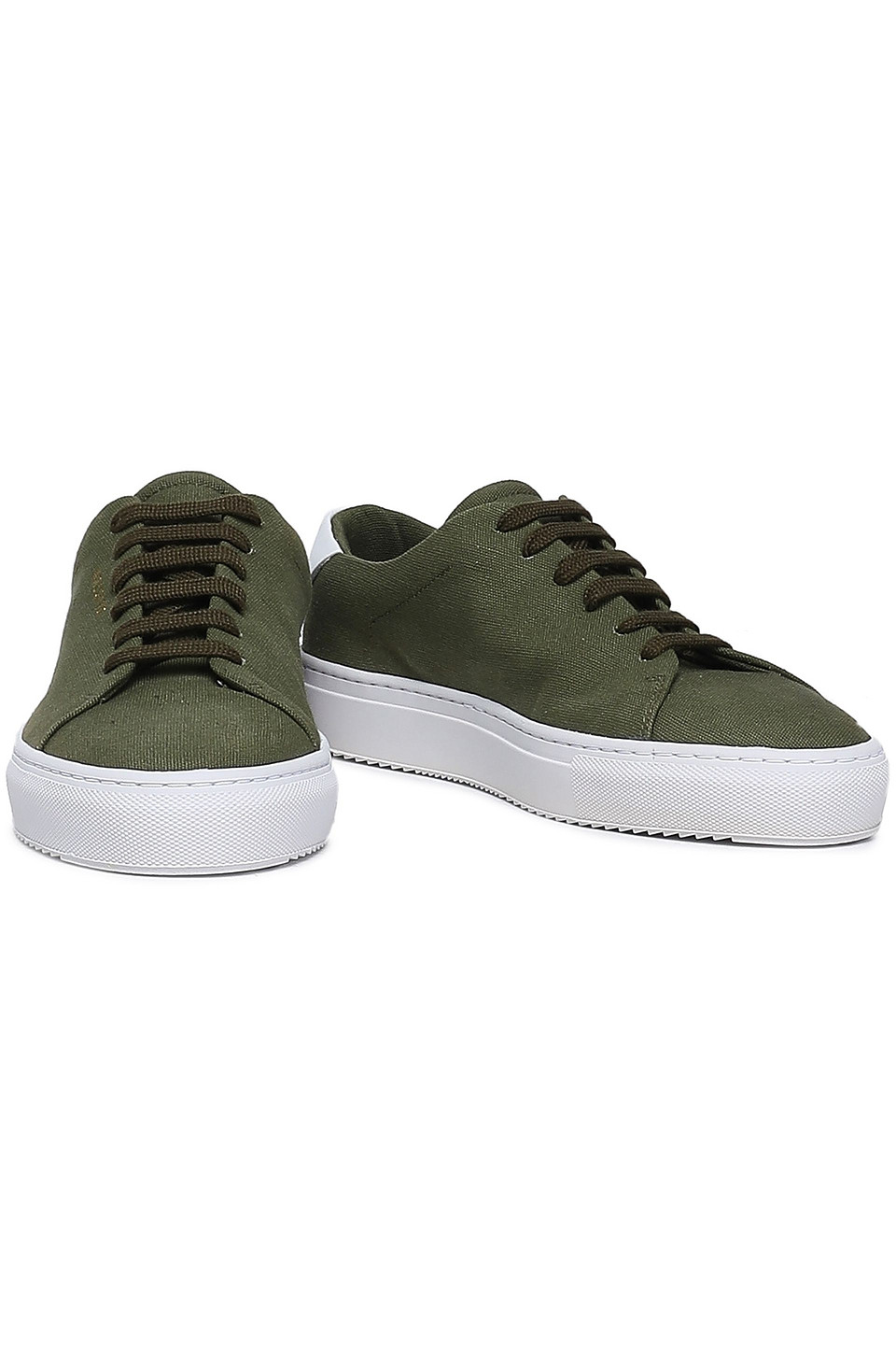Axel Arigato | Axel Arigato Woman Leather-trimmed Canvas Sneakers Army Green | Clouty