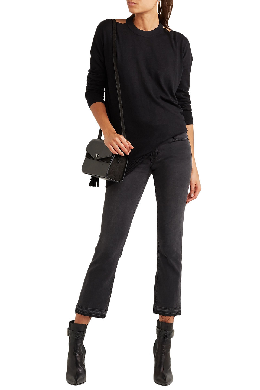 Splendid | Splendid Woman Canarise Cutout Stretch-knit Sweater Black | Clouty