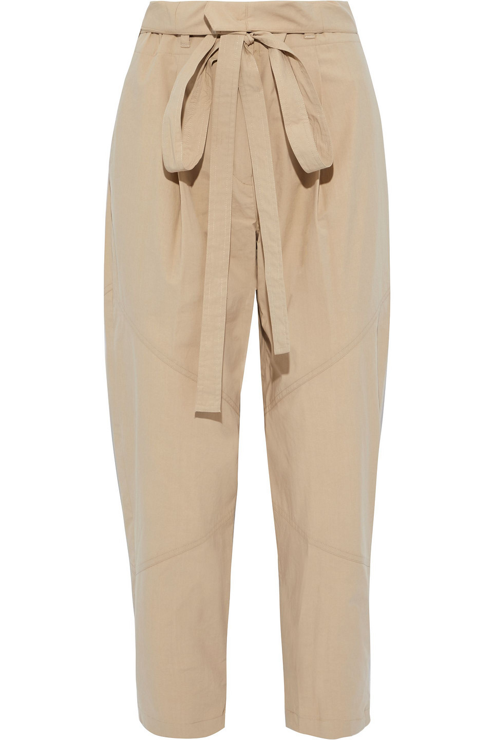 A.L.C. | A.l.c. Woman Bryan Cropped Cotton-blend Tapered Pants Beige | Clouty