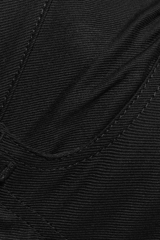 Acne Studios | Acne Studios Woman Lita Cotton-blend Twill Flared Pants Gray | Clouty