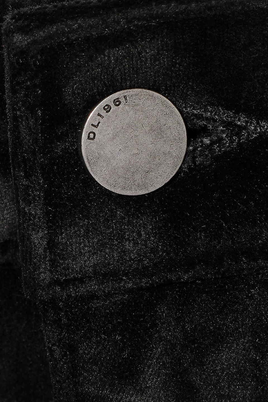 Dl1961 | Dl1961 Woman Margaux Cropped Stretch-velvet Skinny Pants Black | Clouty