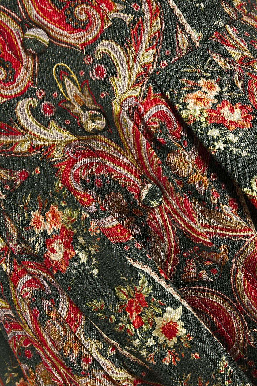 Emilia Wickstead | Emilia Wickstead Woman Apollina Printed Silk And Wool-blend Twill Midi Dress Dark Green | Clouty
