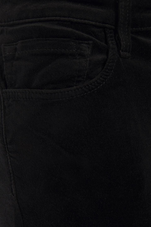 J Brand | J Brand Woman Valentina Cotton-blend Velvet Flared Pants Black | Clouty
