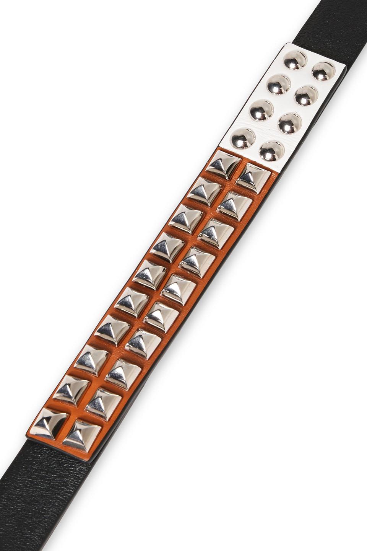 PRADA | Prada Woman Textured-leather Belt Black | Clouty