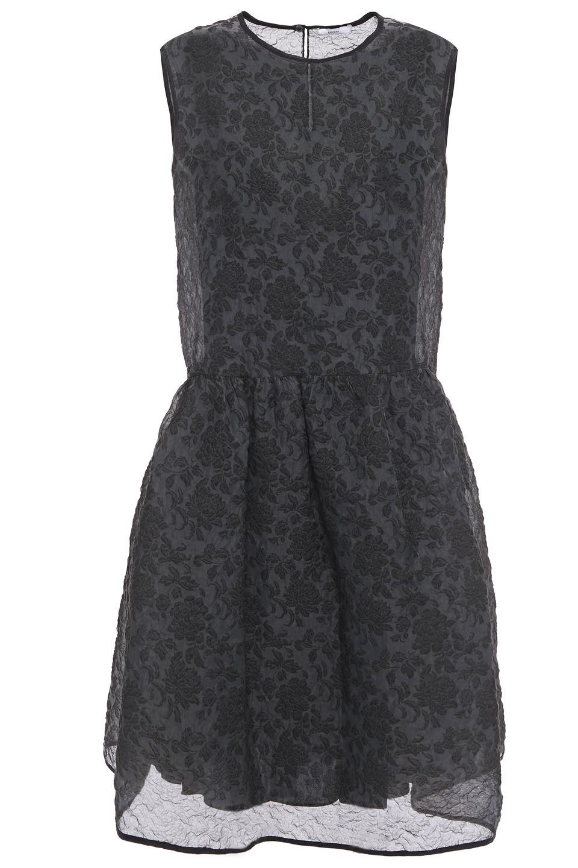 Erdem | Erdem Woman Maddox Organza-cloque Dress Black | Clouty