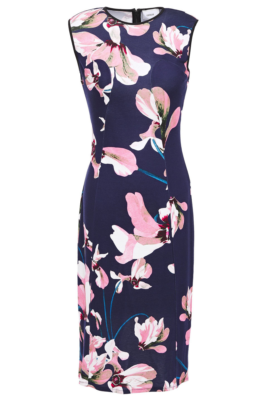 Erdem | Erdem Woman Maura Floral-print Stretch-jersey Dress Navy | Clouty