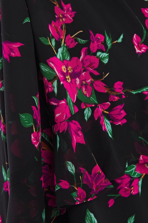 Rachel Zoe   Rachel Zoe Woman Off-the-shoulder Floral-print Chiffon Midi Dress Black   Clouty