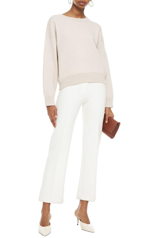 Vince   Vince. Woman Melange Cashmere Sweater Ecru   Clouty