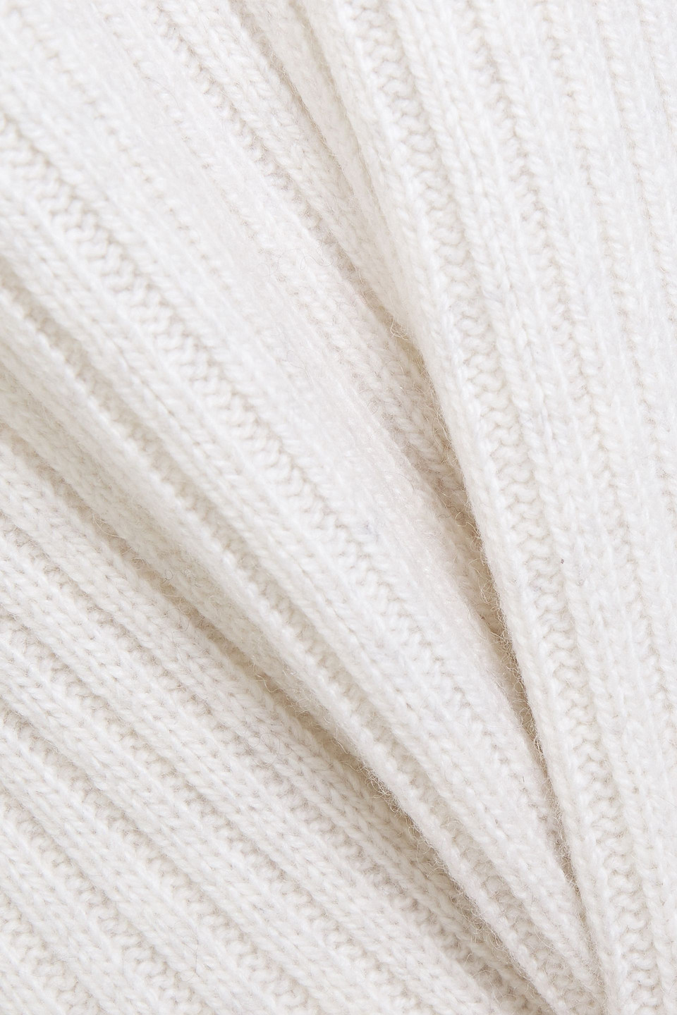 Vince | Vince. Woman Ribbed Wool And Cashmere-blend Dress Off-white | Clouty