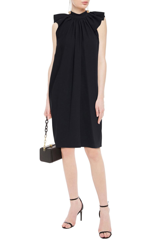 Victoria By Victoria Beckham | Victoria, Victoria Beckham Woman Gathered Stretch-crepe Mini Dress Black | Clouty