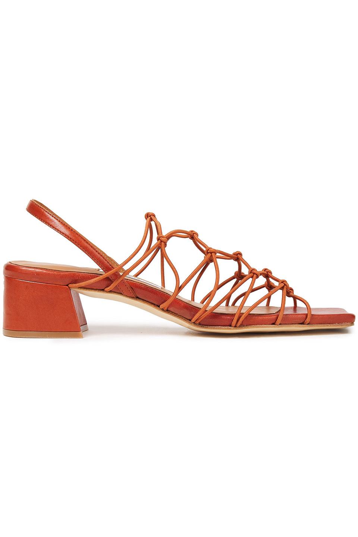 Miista | Miista Woman Frida Leather Sandals Brick | Clouty