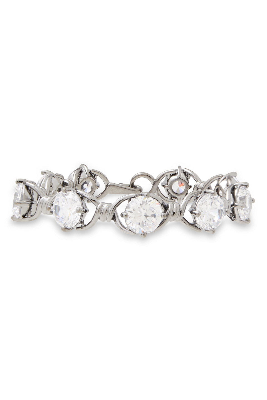 Noir Jewelry | Noir Jewelry Woman Gunmetal-tone Crystal Bracelet | Clouty