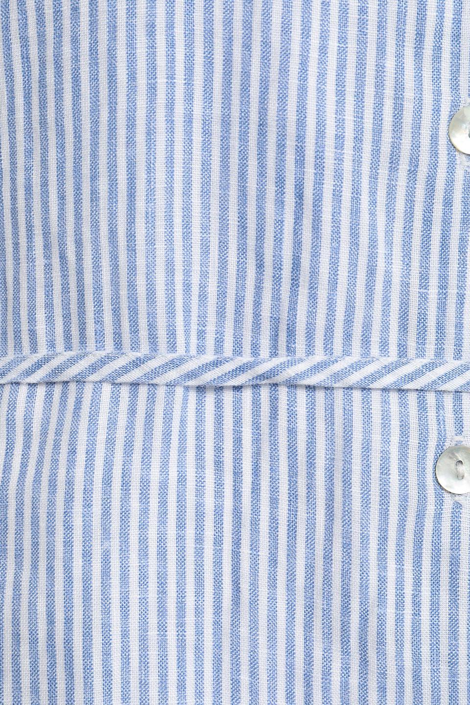 American Vintage | American Vintage Woman Striped Linen Mini Dress Light Blue | Clouty