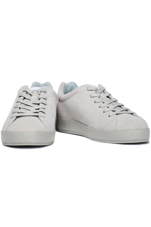 RAG & BONE | Rag & Bone Woman Rb1 Low Suede Sneakers Stone | Clouty