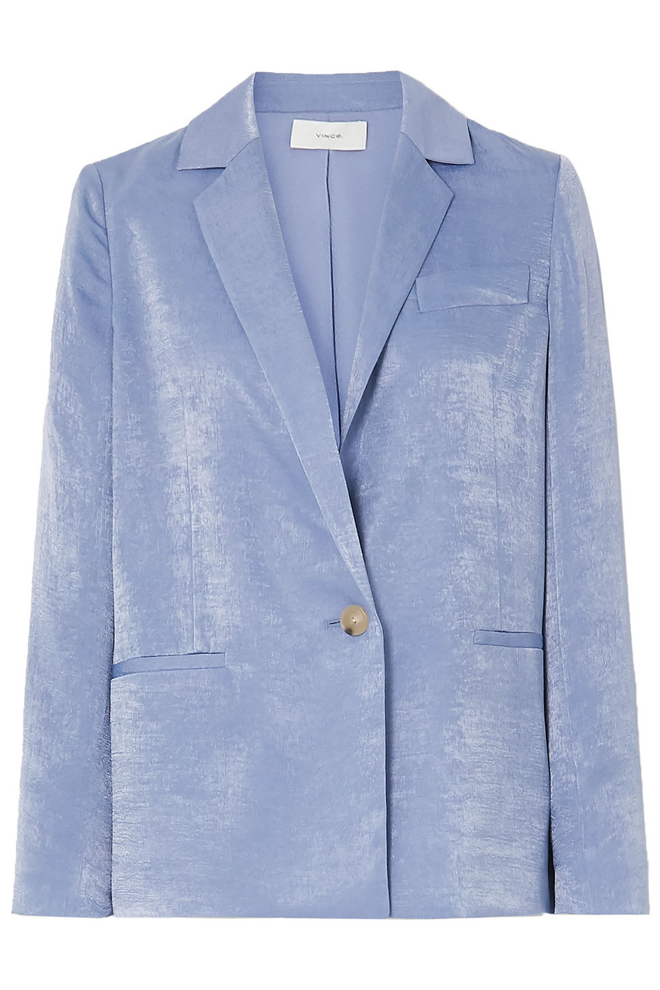 Vince | Vince. Woman Hammered-satin Blazer Light Blue | Clouty