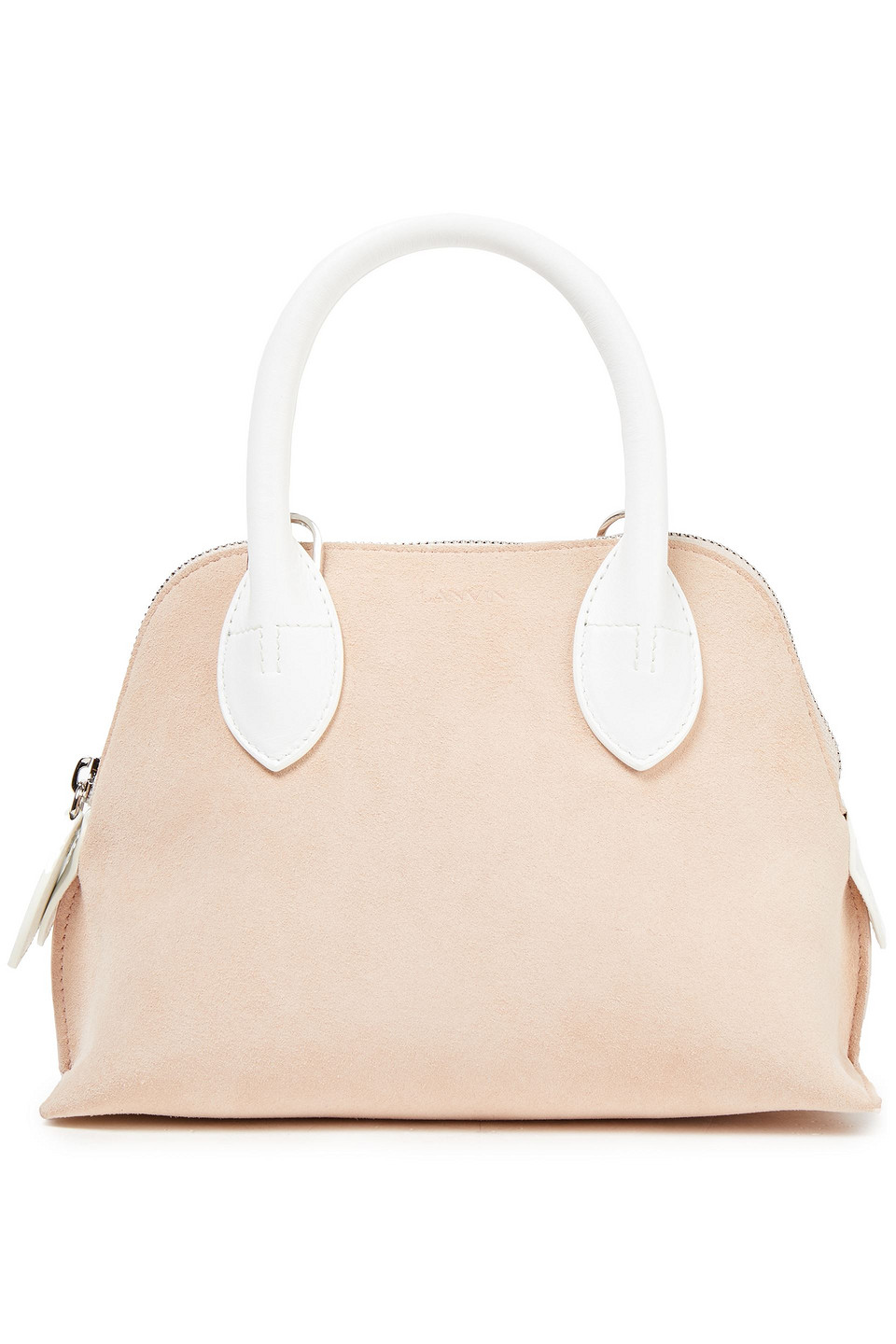 LANVIN | Lanvin Woman Magot Mini Leather And Suede Shoulder Bag Pastel Pink | Clouty