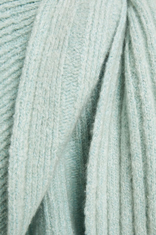 Missoni | Missoni Woman Draped Ribbed-knit Cape Mint | Clouty