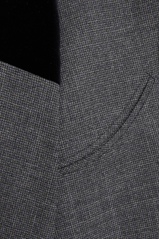 Maison Margiela | Maison Margiela Woman Velvet-trimmed Wool Blazer Dark Gray | Clouty