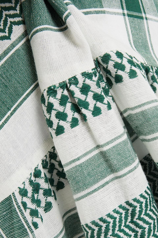 CECILIE  COPENHAGEN | Cecilie Copenhagen Woman O 2 Cotton-jacquard Mini Dress Green | Clouty