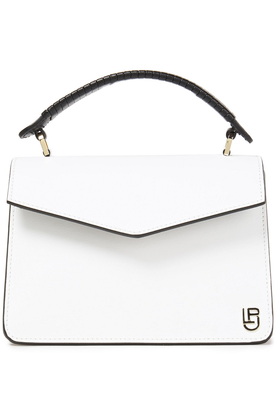 Les Petits Joueurs | Les Petits Joueurs Woman Micro Pixie Leather And Suede Tote White | Clouty